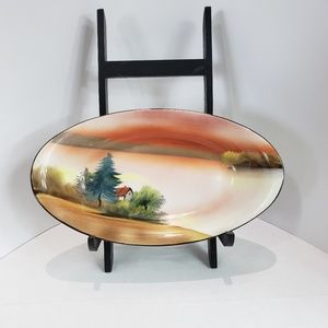 Noritake handpainted country scene dish